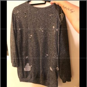 Sweaters - Distressed sweater